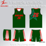 L'équipe de Sublimation de gros Healong Polyester Basketball Maillot costume Set