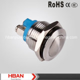 HBAN (19mm) CE RoHS Cúpulas momentáneo metal Push Button Switch