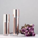 Produit de beauté métallique de Skincare empaquetant la bouteille acrylique en plastique privée d'air de jet de pompe de lotion
