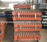 Manganês Casting Parts Jaw Plate for Jaw Crusher