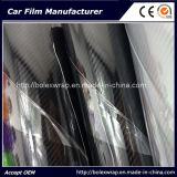 VinylFilm van de Vezel van de Koolstof van de Omslag van de Auto van het voertuig de Rode Super Glanzende 5D