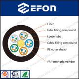 Câble de fibre optique extérieur non métallique de porteur central de FRP (GYFTY)