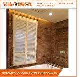 Obturateur en bois de plantation de Basswood direct d'usine pour la salle de bains