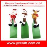 Decorazione del vino del vestito del vino di natale della decorazione di natale (ZY16Y173-1-2-3 26X15CM)