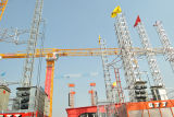 Tower Flattop Crane Qtz80p (PT5613) max Load 8t