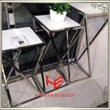 Da mobília Home do hotel da mobília do aço inoxidável de tabela de console da mobília do carrinho do chá (RS162401) torre moderna da flor da tabela do lado da tabela de chá da mesa de centro da tabela da mobília