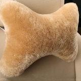 Cuscino molle del collo del poggiacapo dell'automobile della pelle di pecora della peluche di alta qualità