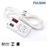 Energien-Streifen mit Rj11/Phone Stromstoss-Schutz und Schalter