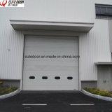Гальванизированная стальная надземная секционная дверь гаража с дистанционным управлением