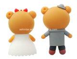 Bastone del USB Pendrive U dell'orso del fumetto dell'azionamento dell'istantaneo del USB dello sposo della sposa
