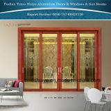 Le verre trempé/Le verre trempé portes intérieure en aluminium portes Portes Coulissantes