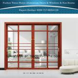 Portas interiores de alumínio Tempered/vidro temperado que penduram portas deslizantes das portas