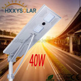 40W todo em uma luz de rua solar do diodo emissor de luz para ao ar livre