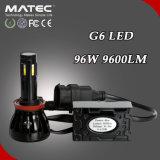 Linterna 96W 9600lm H4 H7 H11 H13 9004 de la pieza de automóvil LED 9005 9006 lámpara de 9007 linternas toda la talla