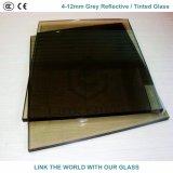 glace r3fléchissante/teintée grise grise de 12mm euro et foncée avec du ce et ISO9001 pour le guichet en verre