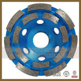 Únicas rodas do copo do diamante da fileira para o concreto do granito
