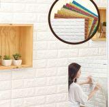 3D panneau étanche à l'humidité de papier de mur de mousse du fond XPE