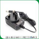 세륨 BS에 의하여 증명되는 UK 3 Pin DC 산출 12V 400mA 교류 전원 접합기