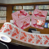 Papel de tejido impreso corazón de cuarto de baño de la novedad del rodillo de tocador