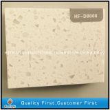 Lastra bianca artificiale della pietra del quarzo della scintilla Polished