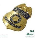 Kundenspezifische Metallzink-Legierungs-Goldpolizei Badge für Armee
