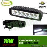 크리 사람 18W 6.2inch 자동 작동 램프 Offroad LED 일 빛