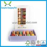 Коробка изготовленный на заказ торта Macarons бумажная с ясным окном