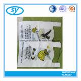 최신 판매 t-셔츠 조끼 손잡이를 가진 플라스틱 쇼핑 백
