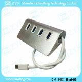 Aluminium 4 de Hub van het Type C USB van Haven USB 3.0 (ZYF4017)