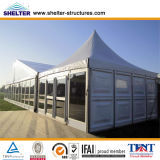 5X5 Small Pagoda Tent ABS Wall Glass Wall