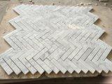 Weißes 1X3 '' herringbone Mosaic Tile für Wall