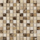 建築材料のシェルのモザイク・タイルのベージュ大理石のモザイク石のタイル