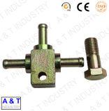 Adaptador de aço inoxidável de baixo carbono revestido de zinco feito de forjamento