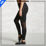 Breathable Body Fit Pure Color Quality Fitness Women Mesh Yoga Pants