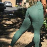 (Контроль качества) оптовой Высокая поясная брюки для занятий йогой женщин Custom Йога Leggings колготки