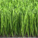Herbe artificielle de qualité de Hiqh de couleur de l'horizontal quatre