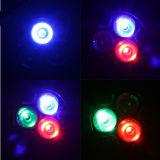 3W RGB LED 천장 빛 AC85-265V 원격 제어를 가진 돌릴수 있는 Downlights 전구 램프