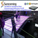 휴대용 High Quality 3D Mirror Time Tunnel Dance Floor Panels