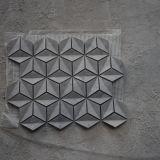 azulejo de mosaico gris Shaped del Rhombus 3D para adornado
