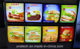 Restaurante Interior Fast Food LED Light Box Menu Board