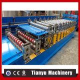 Roulis neuf hydraulique de feuille de trapèze de Double couche de section de profils formant la machine