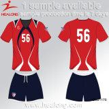 Helaongのカスタム方法様式の赤くおよび黒いカラーチーム摩耗のサッカーセット
