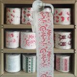 Roulis de WC de nouveauté de papier de toilette estampé par chiffons de toilette de Joyeux Noël
