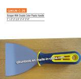 2개의 색깔 나무로 되는 손잡이를 가진 긁는 도구