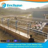 Filtre de medias continu de tissu de fibre