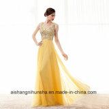 方法Aラインは水晶の軽くて柔らかく形式的なイブニング・ドレスのプロムの服に玉を付けた