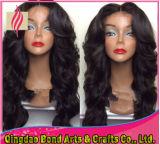 Estilo de moda Virgem indiana de cabelo humano Glueless Full Lace Peruca