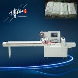 Fábrica de máquina horizontal semiautomática do envolvimento do tecido facial da potência da economia