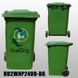 Borracha de lixo de plástico 240L para exterior