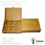 Embleem 6 van de Douane van Hongdao de Doos van de Gift van de Wijn van de Fles voor Prijs _E van de Doos van de Wijn van de Verpakking de Houten Lage